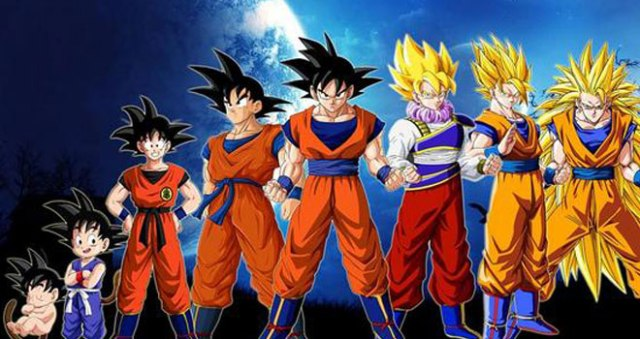 Dragon-Ball-Z-evolucion-de-Goku